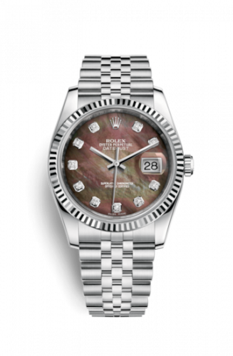 Rolex 116234-0105 : Datejust 36 Stainless Steel Fluted / Jubilee / Brown MOP