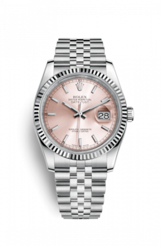 Rolex 116234-0108 : Datejust 36 Stainless Steel Fluted / Jubilee / Pink