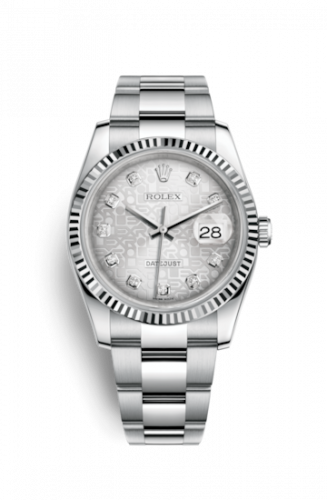 Rolex 116234-0135 :  Datejust 36 Stainless Steel Fluted / Oyster / Silver Computer