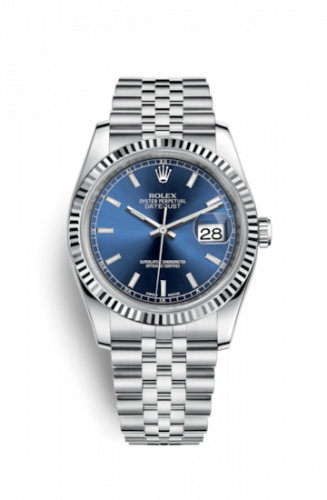 Rolex 116234-0139 : Datejust 36 Stainless Steel Fluted / Jubilee / Blue