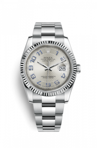 Rolex 116234-0155 : Datejust 36 Stainless Steel Fluted / Oyster / Silver Arabic