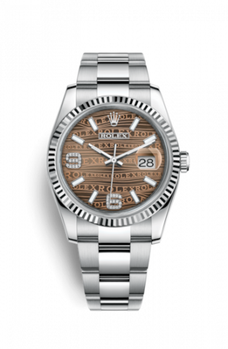 Rolex 116234-0156 : Datejust 36 Stainless Steel Fluted / Oyster / Bronze Wave