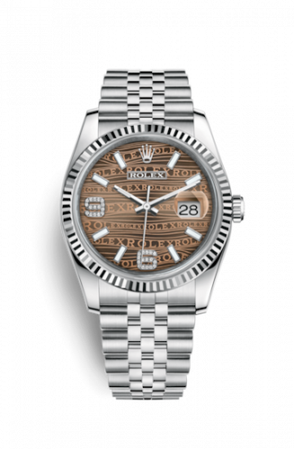 Rolex 116234-0158 : Datejust 36 Stainless Steel Fluted / Jubilee / Bronze Wave