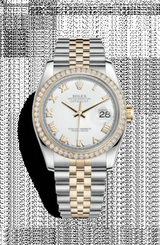 Rolex 116243-0001 : Datejust 36 Rolesor Yellow Diamond / Jubilee / White Roman