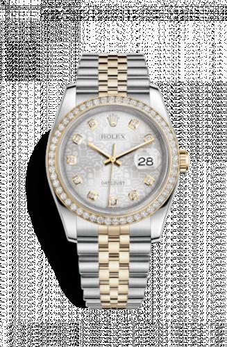 Rolex 116243-0002 : Datejust 36 Rolesor Yellow Diamond / Jubilee / Silver Computer