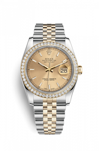 Rolex 116243-0003 : Datejust 36 Rolesor Yellow Diamond / Jubilee / Champagne