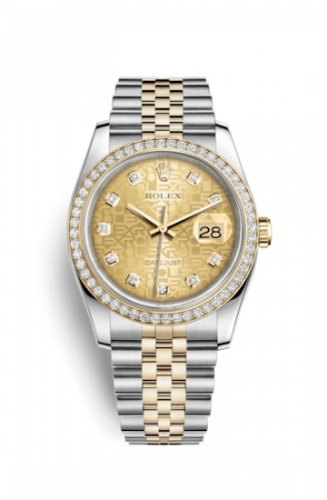Rolex 116243-0004 : Datejust 36 Rolesor Yellow Diamond / Jubilee / Champagne Computer