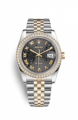 Rolex 116243-0014 : Datejust 36 Rolesor Yellow Diamond / Jubilee / Black Computer Roman