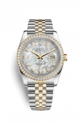 Rolex 116243-0018 : Datejust 36 Rolesor Yellow Diamond / Jubilee / MOP