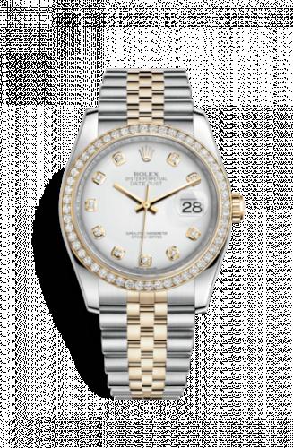 Rolex 116243-0021 : Datejust 36 Rolesor Yellow Diamond / Jubilee / White Diamond