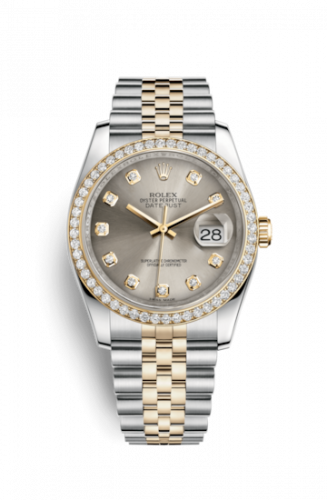 Rolex 116243-0023 : Datejust 36 Rolesor Yellow Diamond / Jubilee / Steel Diamond
