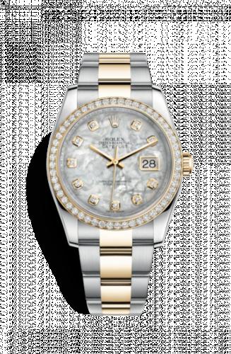 Rolex 116243-0027 : Datejust 36 Rolesor Yellow Diamond / Oyster / MOP