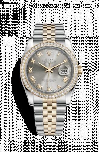 Rolex 116243-0045 : Datejust 36 Rolesor Yellow Diamond / Jubilee / Steel Roman