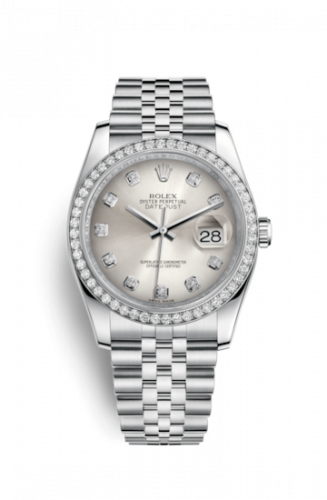 Rolex 116244-0001 : Datejust 36 Stainless Steel Diamond / Jubilee / Silver Diamonds
