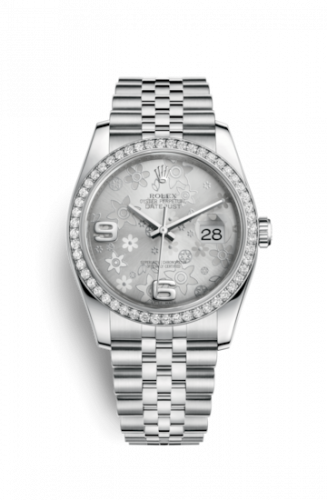 Rolex 116244-0002 : Datejust 36 Stainless Steel Diamond / Jubilee / Silver Floral