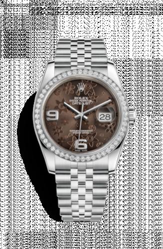Rolex 116244-0003 : Datejust 36 Stainless Steel Diamond / Jubilee/ Bronze Floral