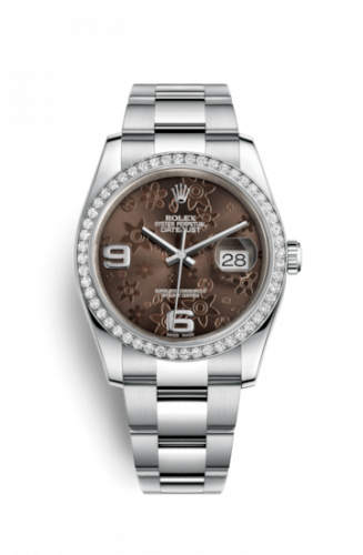 Rolex 116244-0006 : Datejust 36 Stainless Steel Diamond / Oyster / Bronze Floral