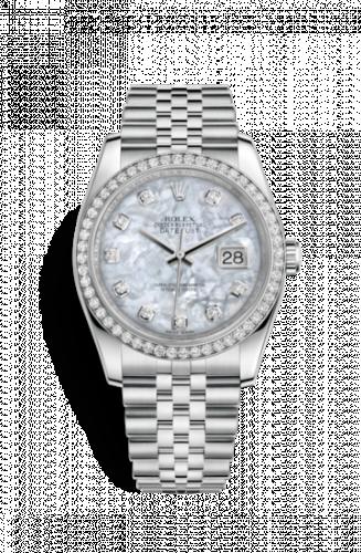 Rolex 116244-0011 : Datejust 36 Stainless Steel Diamond / Jubilee / MOP