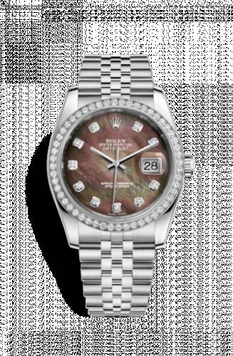 Rolex 116244-0012 : Datejust 36 Stainless Steel Diamond / Jubilee / Black MOP