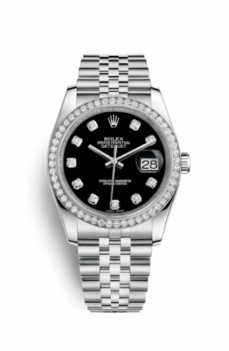 Rolex 116244-0014 : Datejust 36 Stainless Steel Diamond / Jubilee / Black Diamond