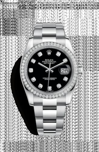 Rolex 116244-0017 : Datejust 36 Stainless Steel Diamond / Oyster / Black Diamond