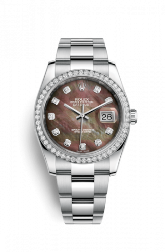 Rolex 116244-0019 : Datejust 36 Stainless Steel Diamond / Oyster / Black MOP