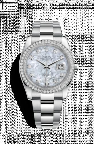 Rolex 116244-0020 : Datejust 36 Stainless Steel Diamond / Oyster / MOP