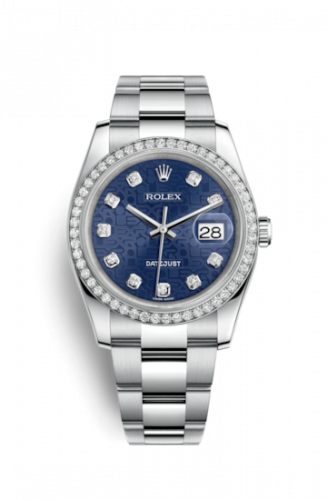 Rolex 116244-0021 : Datejust 36 Stainless Steel Diamond / Jubilee / Blue Computer
