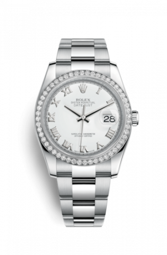 Rolex 116244-0023 : Datejust 36 Stainless Steel Diamond / Oyster / Silver
