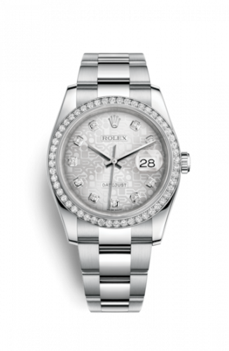 Rolex 116244-0024 : Datejust 36 Stainless Steel Diamond / Oyster / Silver Computer