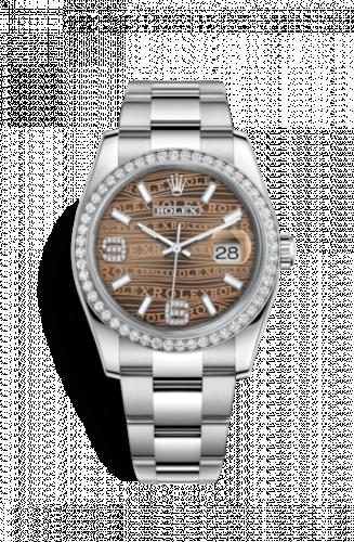 Rolex 116244-0037 : Datejust 36 Stainless Steel Diamond/ Oyster / Bronze Wave