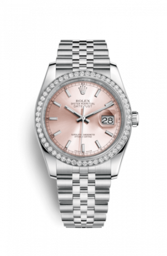 Rolex 116244-0050 : Datejust 36 Stainless Steel Diamond / Jubilee / Pink