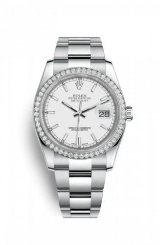 Rolex 116244-0057 : Datejust 36 Stainless Steel Diamond / Oyster / White