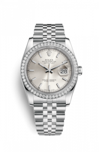 Rolex 116244-0058 : Datejust 36 Stainless Steel Diamond / Jubilee / Silver