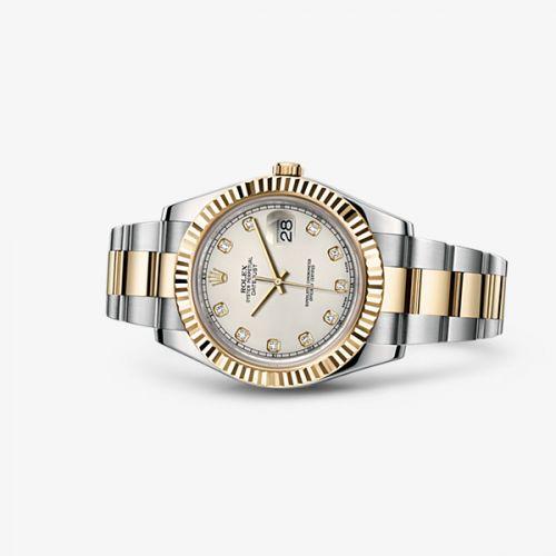 Rolex 116333-0008 : Datejust II Rolesor Ivory Diamonds