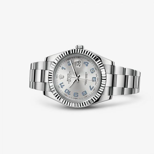 116334-0001 : Rolex Datejust II Fluted Rhodium