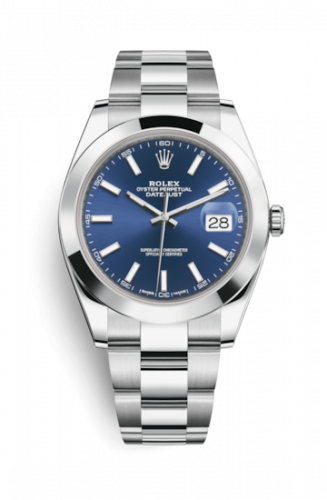 Rolex 126300-0001 : Datejust 41 Stainless Steel Smooth / Oyster / Blue