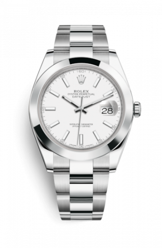 Rolex 126300-0005 : Datejust 41 Stainless Steel Smooth / Oyster / White