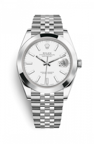 Rolex 126300-0006 : Datejust 41 Stainless Steel Smooth / Jubilee / White