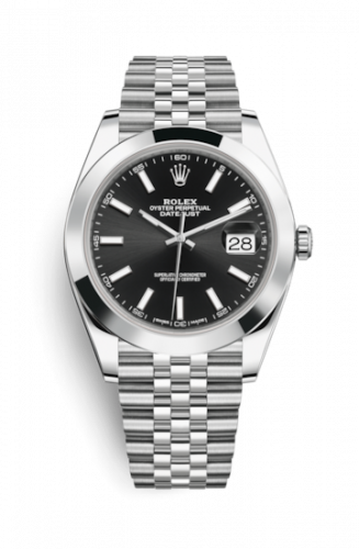 Rolex 126300-0012 : Datejust 41 Stainless Steel Smooth / Jubilee / Black
