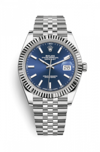 Rolex 126334-0002 : Datejust 41 Stainless Steel Fluted / Jubilee / Blue