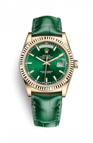118138-0003 : Rolex Day-Date 36 Yellow Gold / Strap / Green