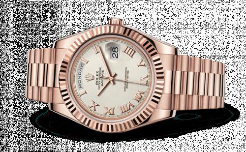 218235-0033 : Rolex Day-Date II Everose Ivory Roman