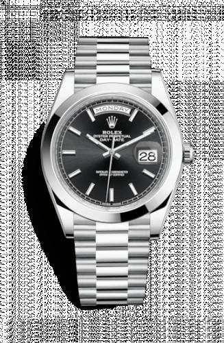 Rolex 228206-0031 : Day-Date 40 Platinum / Black