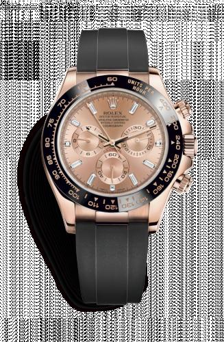 116515LN-0016 : Rolex Cosmograph Daytona Everose / Cerachrom /  Pink Baguette / Oysterflex