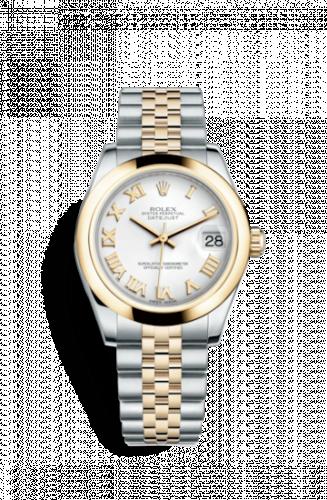 178243-0067 : Rolex Datejust 31 Rolesor Yellow Domed / Jubilee / White Roman