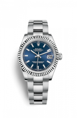178274-0038 : Rolex Datejust 31 Stainless Steel Fluted / Oyster / Blue