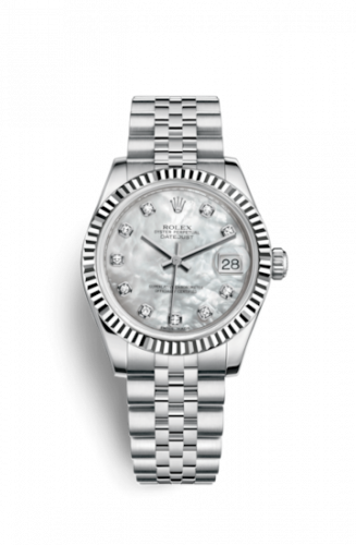 Rolex 178274-0042 : Datejust 31 Stainless Steel Fluted / Jubilee / MOP