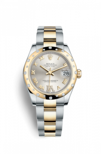 178343-0002 : Rolex Datejust 31 Rolesor Yellow Domed Diamond / Oyster / Silver Roman