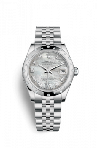 Rolex 178344-0004 : Datejust 31 Stainless Steel Domed Diamond / Jubilee / MOP - Roman